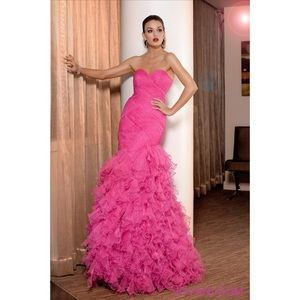 NWT Jovani pink mermaid formal gown